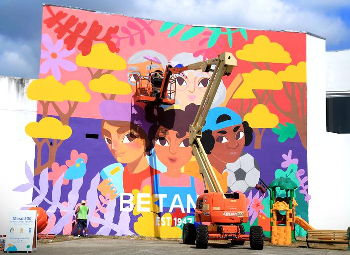 ALO Group Panamá en Pintura de Mural