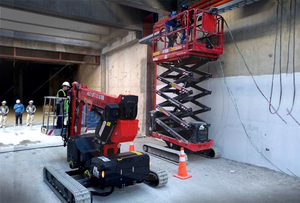 Equipos ALO Lift en construcción