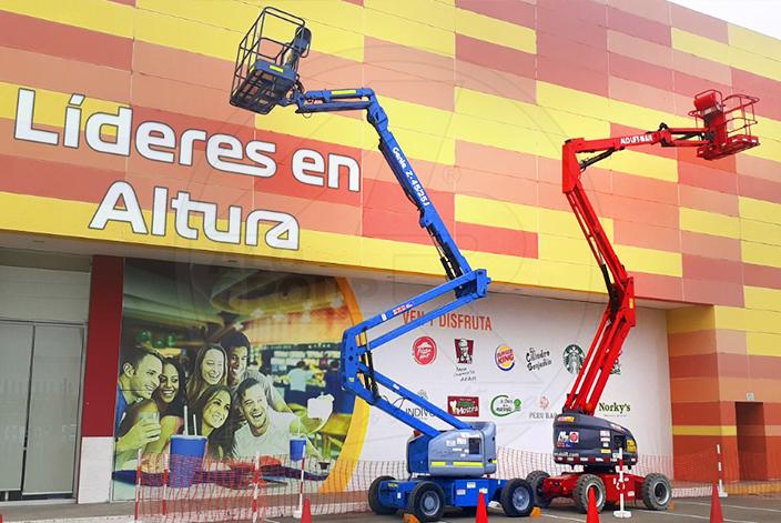 Brazos articulados en centro comercial de Lima