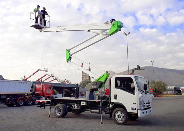 Plataforma sobre camión COMET