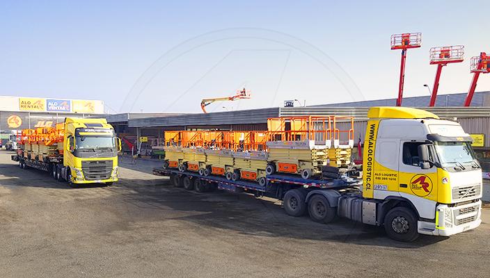 ALO Logistic y camiones con plataformas