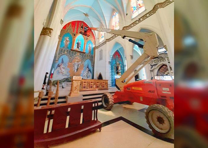 Brazo JLG en Iglesia de Panamá