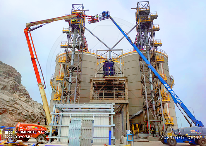 Construcción de proyecto portuario